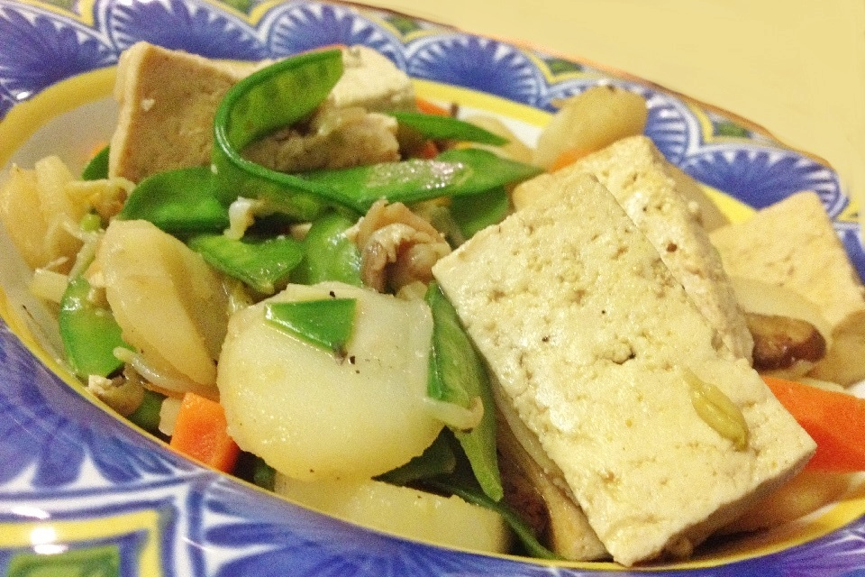 ... brown rice crust gf brown rice stir fry with flavored tofu and