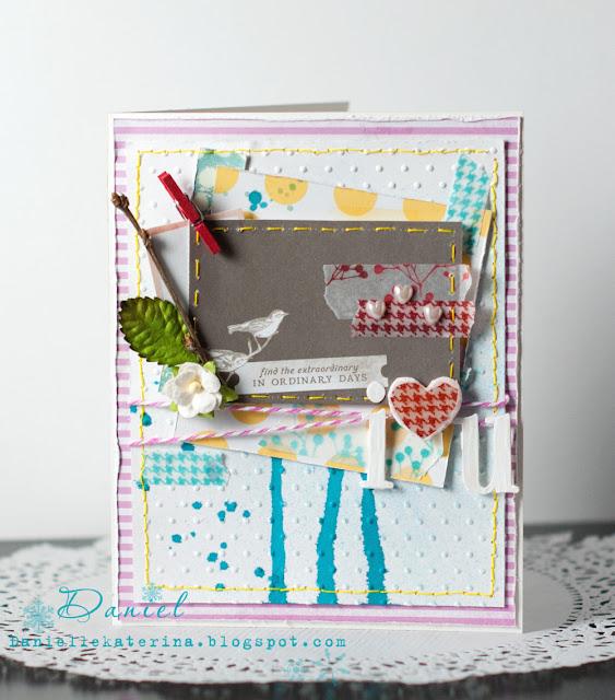 валентинка ручной работы + american crafts + 5th frolik