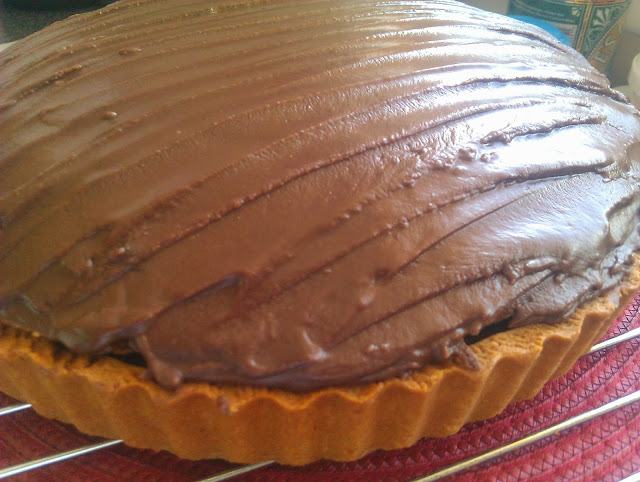 Chocolate Ginger Apricot Flan