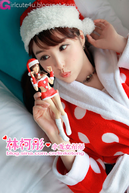 4 Linke Tong glowing Christmas Maid Princess first series-very cute asian girl-girlcute4u.blogspot.com