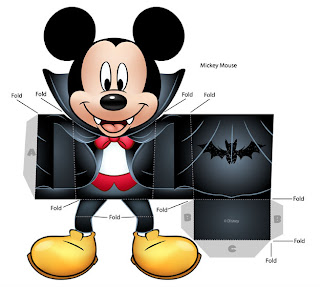 Cut of mickey mouse for halloween