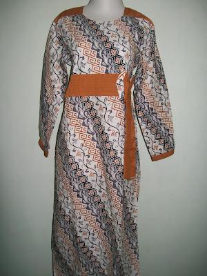 Baju Batik Gamis Modern