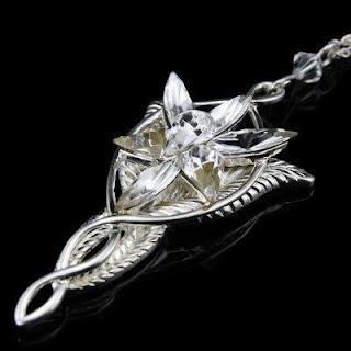 HOT!! Lady Fashion LOTR Charm Arwen Evenstar Silver Crystal Pendant Necklace NEW