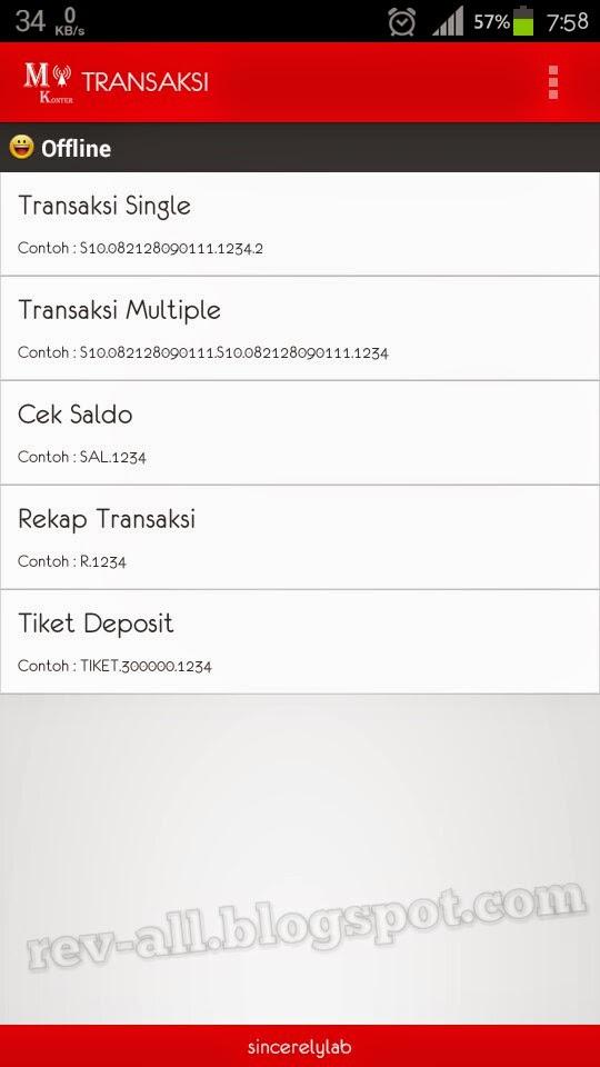 Tampilan utama m-konter, aplikasi android untuk transaksi pulsa dengan mudah dan cepat (rev-all.blogspot.com)