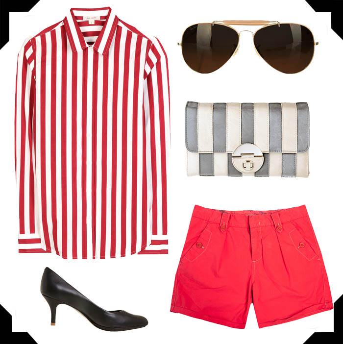 NAYA RIVERA ENSINANDO COMO USAR PIJAMA_outfit_streetstyle_estilo_trend pijama_listras_stripes