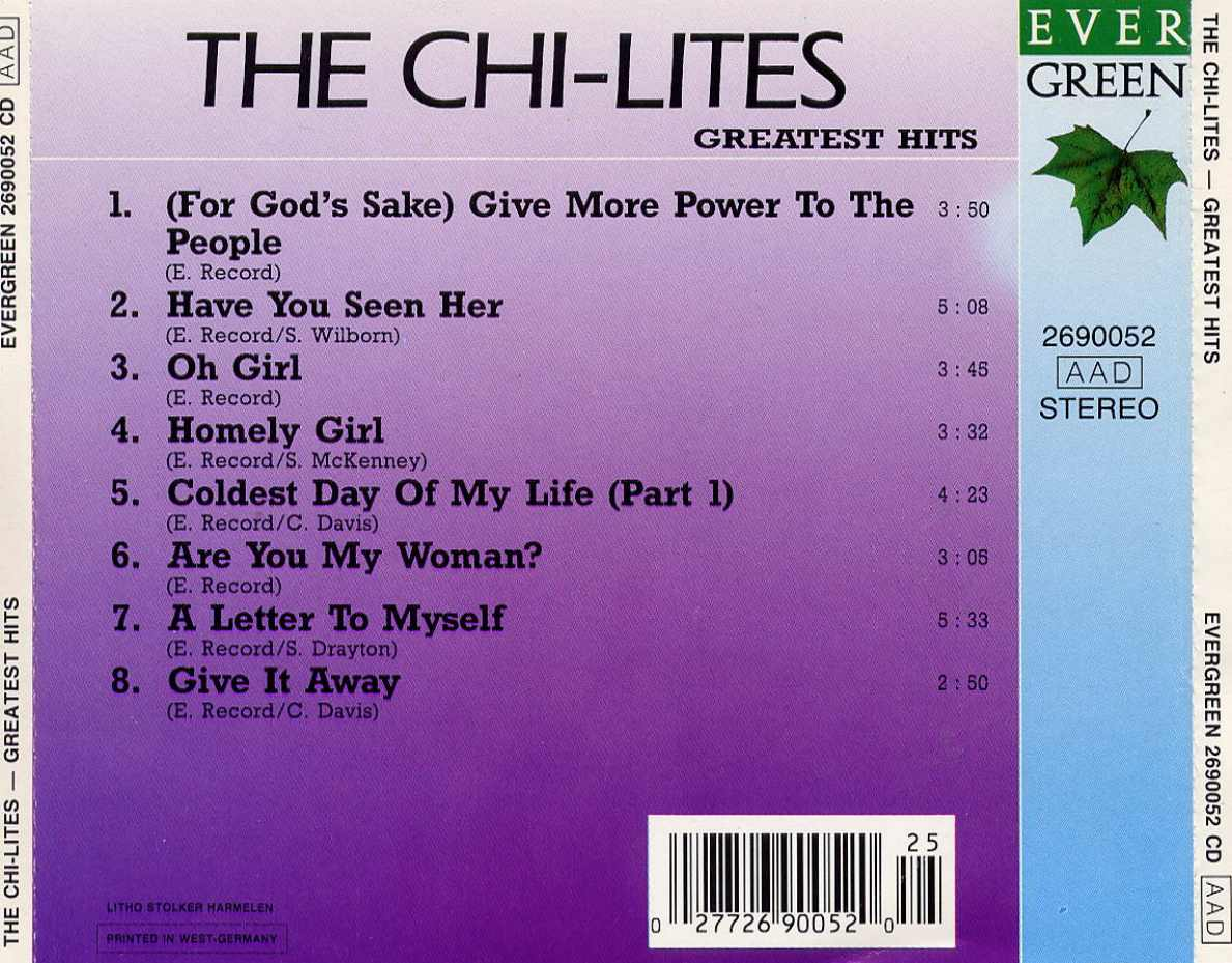 Chi lites greatest hits dts cd multishell