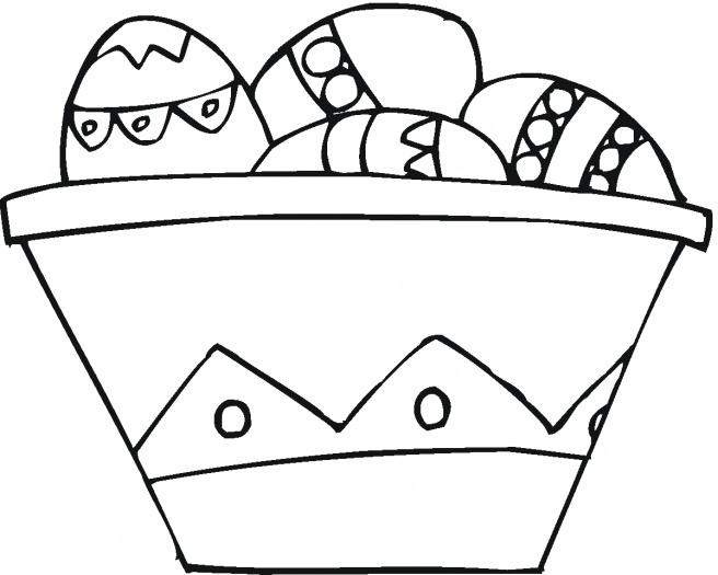Free Coloring Pages Easter Basket Coloring Pages