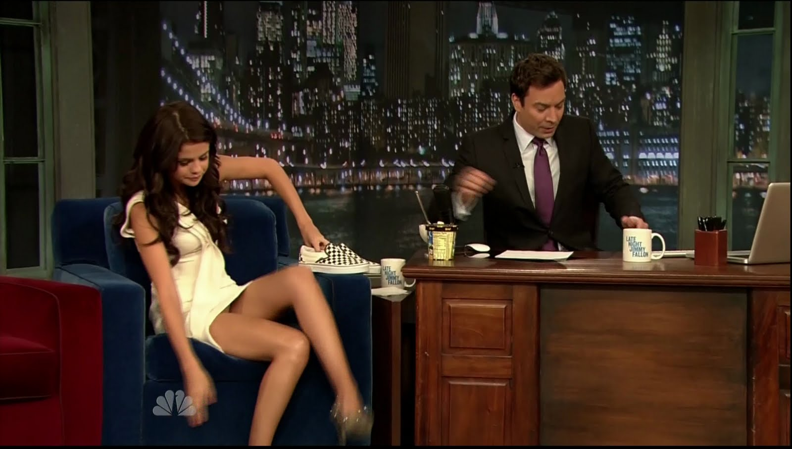 Upskirt from tv talk shows