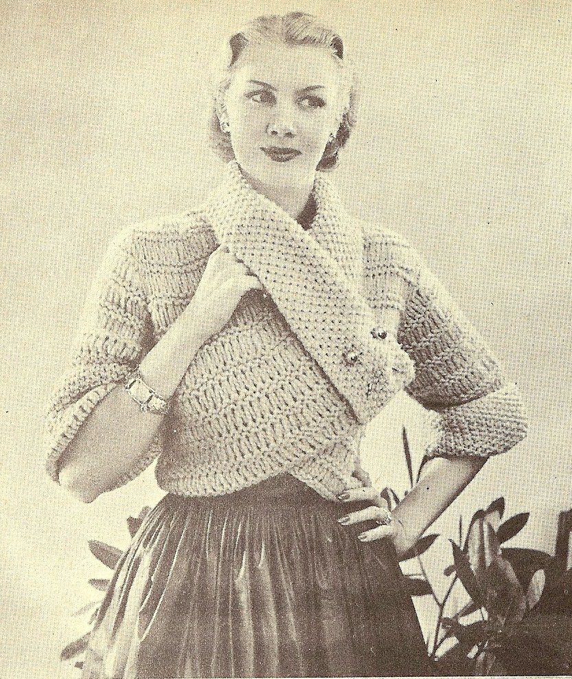 Free Vintage Knitting Patterns 1950s : The Vintage Pattern Files: 1950s Knitting - A Coat in Novelty Wool