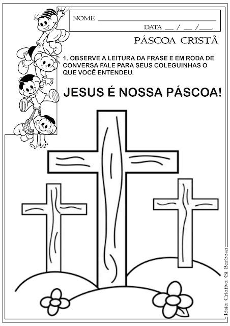 Atividade Páscoa Cristã /  Cruz Símbolo da Páscoa