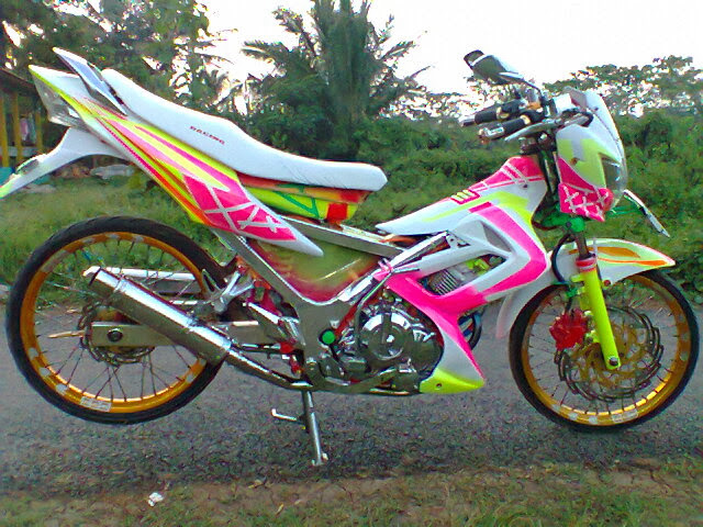 Modifikasi Satria FU Ceper Drag Airbrush title=