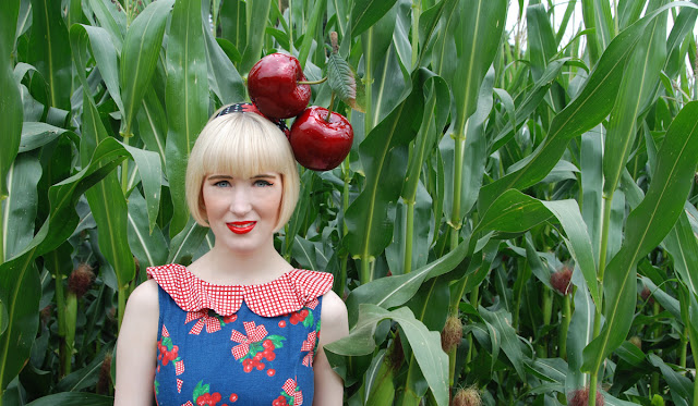 cherry headpiece, giant cherry, Dotti's, hat