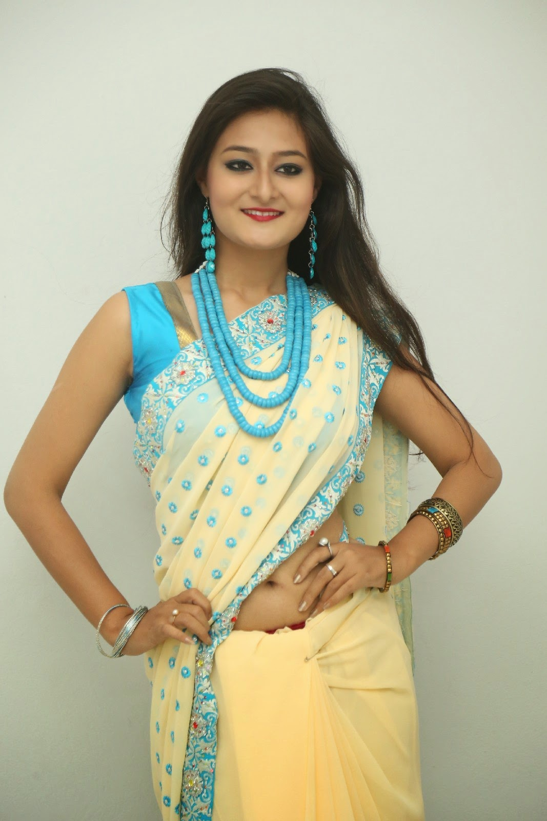 Nilofer sizzling saree photos-HQ-Photo-4