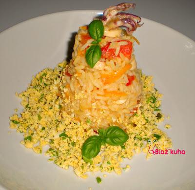 riževa solata, recept za riževo solato, piknik solata