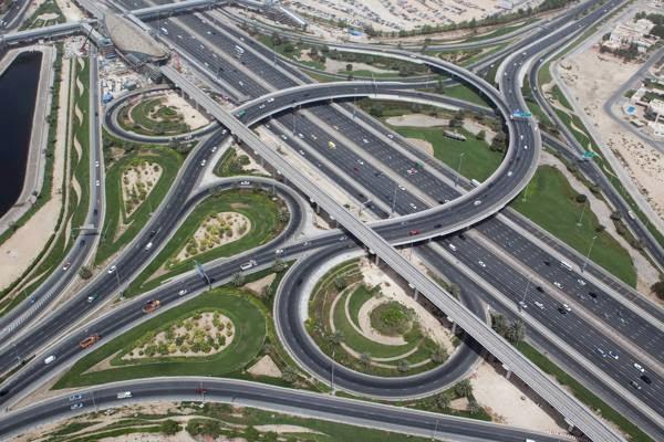 Les-autoroutes-de-Dubaï