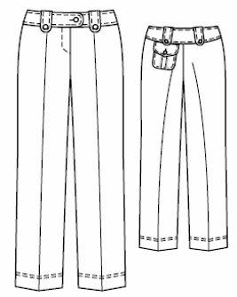 BAÚL DE LAS COSTURERAS: Pantalones de línea clásica, patrones para