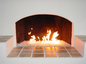 Fireplaces With Glass Rocks Art And Interior GUEST POST Fire Glass