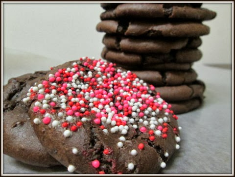 Black Bean Cookies with sprinkles