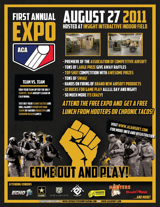 ACA Expo, Association of Competitive Airsoft, Airsoft Expo, Insight Interactive Airsoft CQB Facility, Airsoft Events, Pyramyd Airsoft Blog, Tom Harris Media,