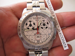 SOLD TISSOT CHRONOGRAPH WHITE DIAL - FOOTBALL EDITION - LIMITED EDITION