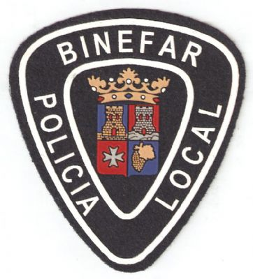 3 escudos, una bandera y una equipación de Binéfar