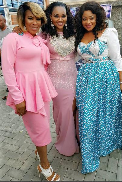 Fathia Balogun,Mercy Aigbe and Biodun Okeowo