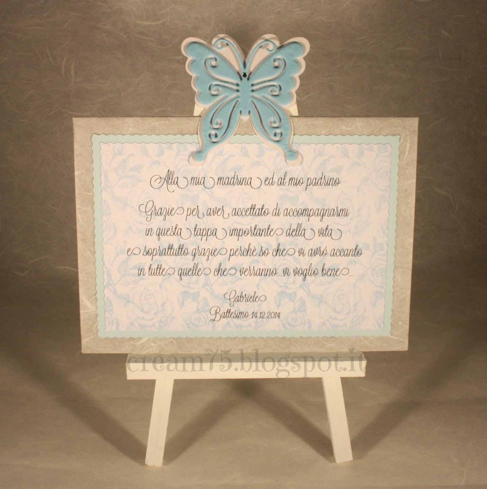 Eccezionale My Sweet Blog: Battesimo: targhetta per madrina e padrino WS84