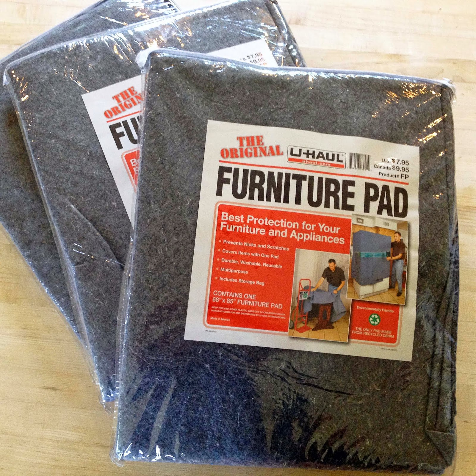 U-Haul Furniture Pads in Packaging