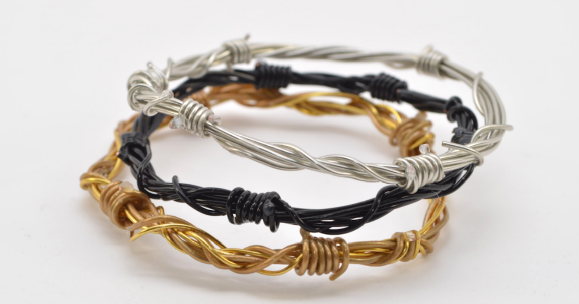 barbed wire inspired bangletutorial the beading gem 39 s