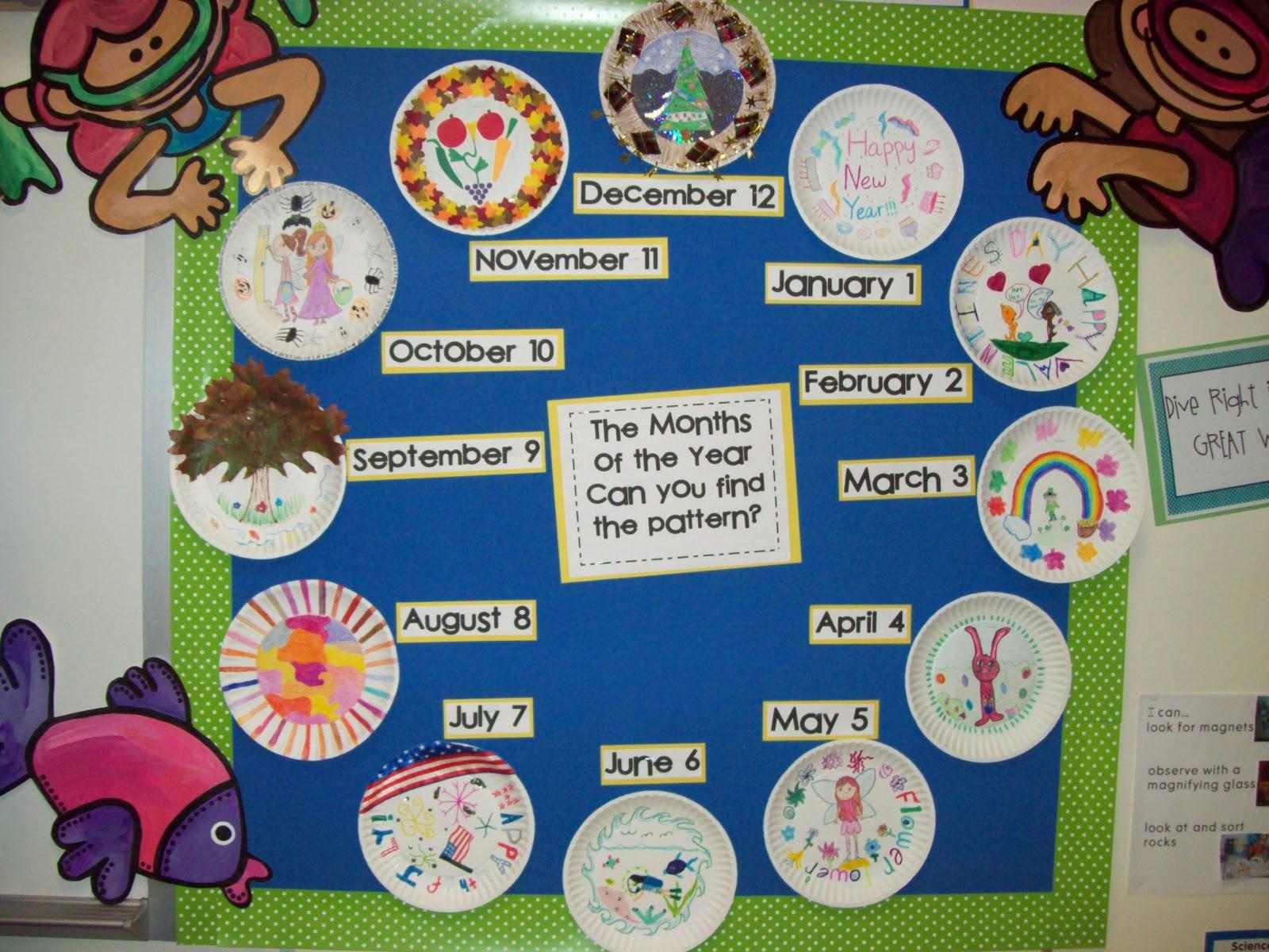 Calendar Picture Ideas For Each Month : Chalk talk a kindergarten the months of year