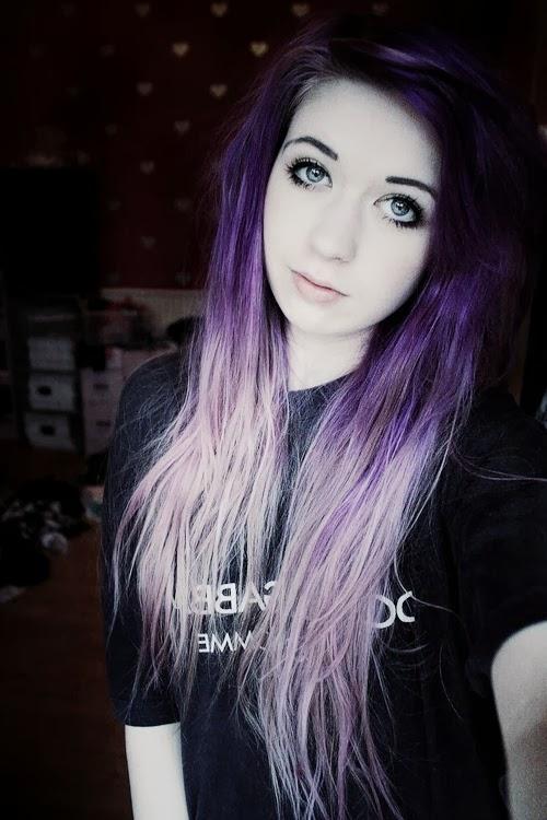 violet and black colores de cabellos