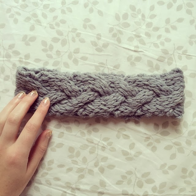 braided knit headband