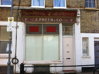 Ghost sign in Greyhound Road, Fulham, London W6