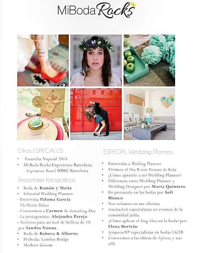 revista bodas gratis mi boda rocks especial wedding planners