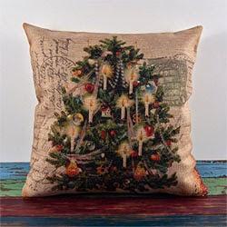 Santa Claus Snowman Rabbit Burlap Pillow Case