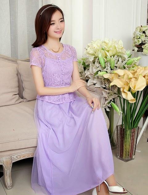 model baju gaun panjang