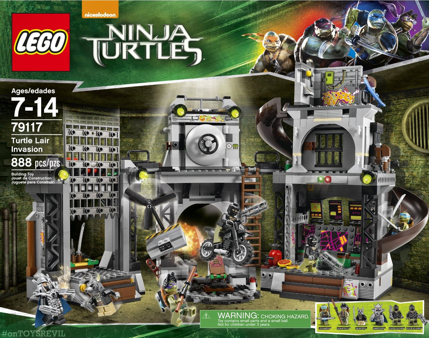 """The Teenage Mutant Ninja Turtles"" LEGOS Revealed"