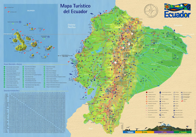 ecuador maps