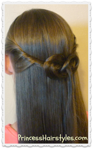 Half Up Hair Knot Hairstyle