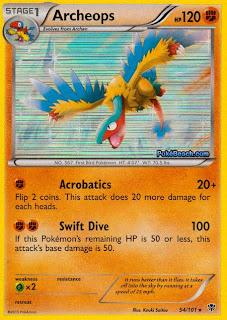 Archeops Plasma Blast Pokemon Card