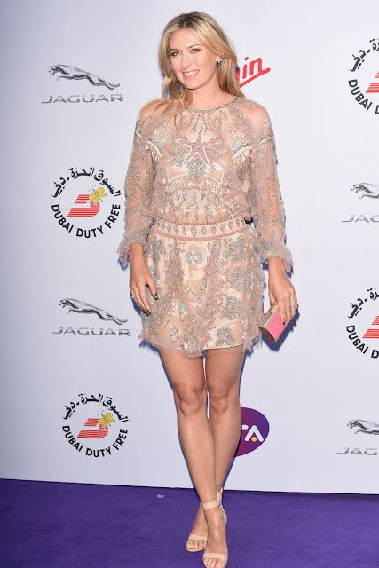 Maria Sharapova stunning leggy poses at WTA party carpet photo 7