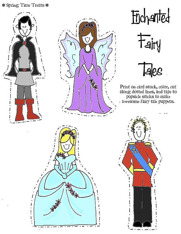 Free Printables Stick Puppets Fairy Tales