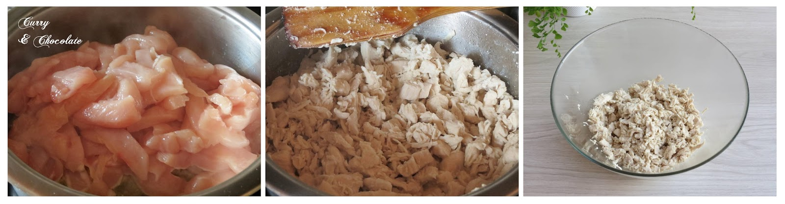 Preparando el pollo
