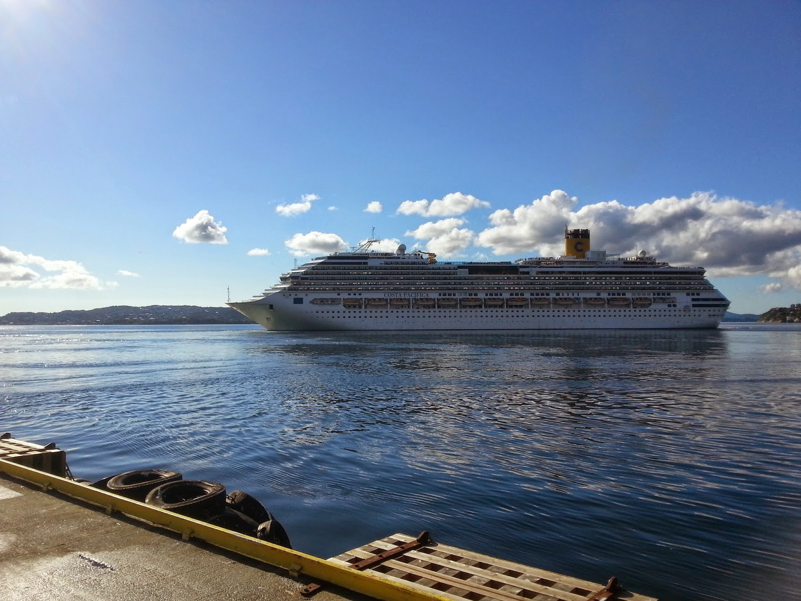 Cruise Ship Costa Pacifica in Bergen, Norway