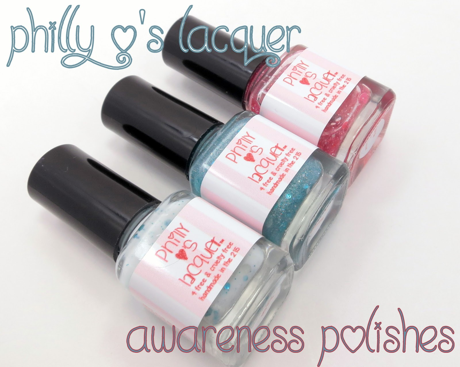 Oh Three Oh Four: Philly Loves Lacquer Awareness Polishes Reviews ...