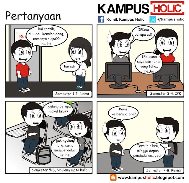 #139 komik Pertanyaan ala mahasiswa