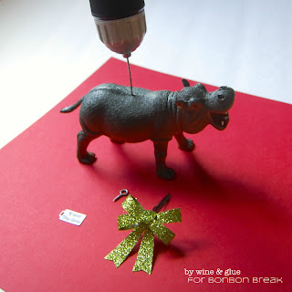 I Want a Hippopotamus Christmas Ornament by Lisa Longley of Wine & Glue diy hippopotamus ornament