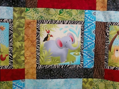 baby jungle animals quilt pattern | Pottery Barn Kids