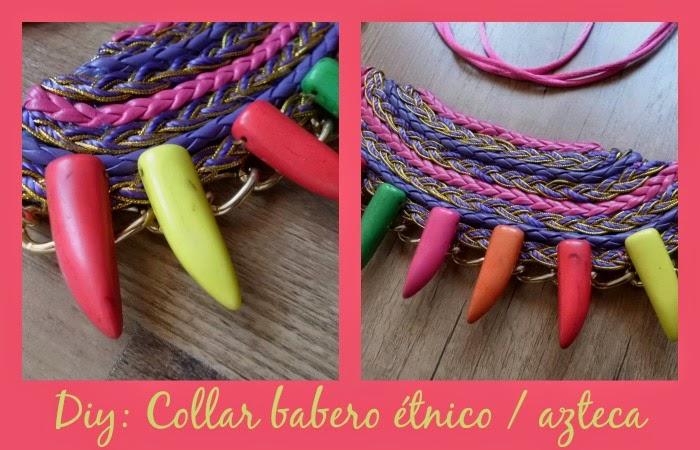 hazlo tu misma un collar babero étnico azteca para este verano colorido que complementa tus outfits diarios