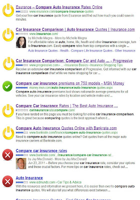 Google auto insurance search
